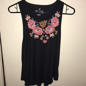 Floral Sleeveless Top NWOT